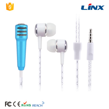 MP3 Music Microphone Stereo Earphone for Singing