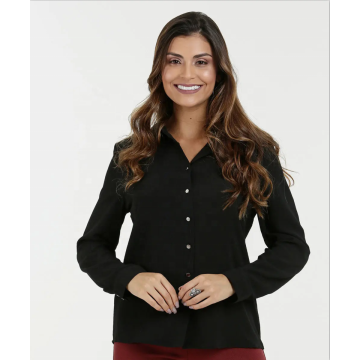 Long Sleeve Elegant Office Ladies Women Tops
