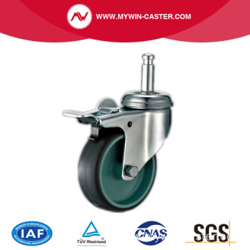 Braked Grip Ring Grey Tpr Industrial Caster Wheels