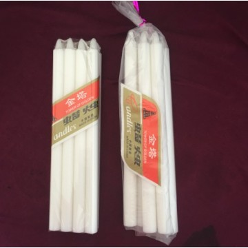 22G white candle 6x100 polybag packing