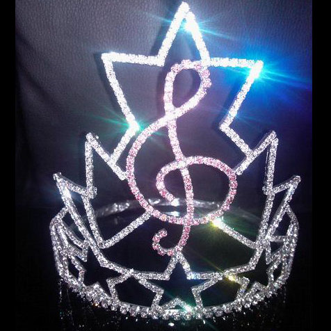 Pageant Crown Music Shape CR-12157