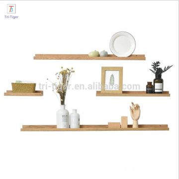solid Floating Wall shelf line style Decorative Wall Wood Shelves