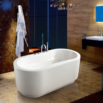 Freestanding Massage Sitting Acrylic Corner Bathtub