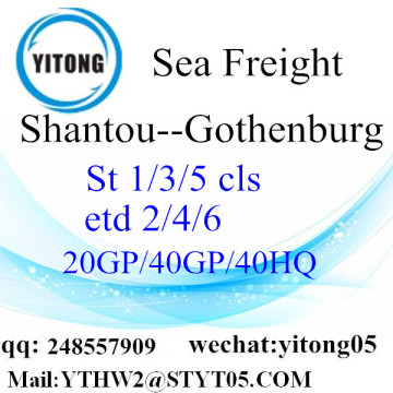 Shantou Sea Freight to Gothenburg