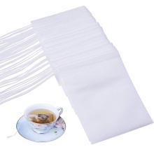 "Disposable Empty Tea Bags Filter Bags for Loose Tea 100 PCS 3.54""X 2.75"" Hheat Seal Tea Bag Filter Paper 1 Cup Capacity for 10 g"