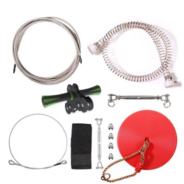 GIBBON  Backyard Zip line Kit Non-Slip Handles