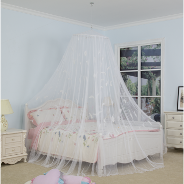 Canopy Bed Mosquito Net With Feather Decoration