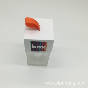 colored retail offset printed window cardboard packaging box