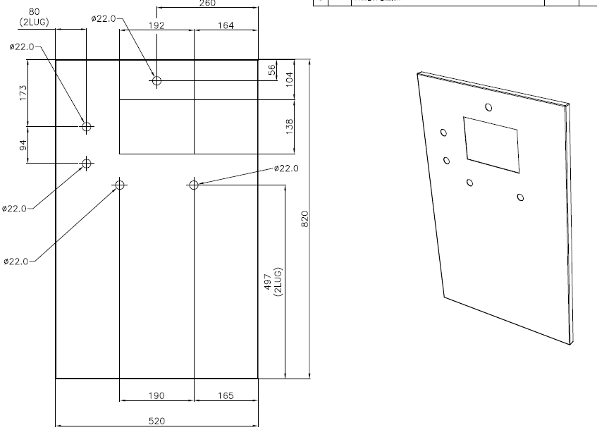 Electrical Cabinet 2 inner door design