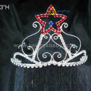 cheap custom colored patriotic star crowns PC-12013