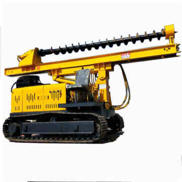 Solar photovoltaic crawler ground drilling small pile driver