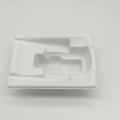 Durable wet press moulded pulp paper tray