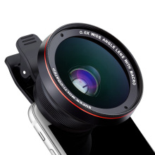 Professional 4K HD Wide Angle Lens with Macro Camera Kits for IPhone Samsung Huawei Xiaomi Fish Eye Lens Clip Phone Accessories