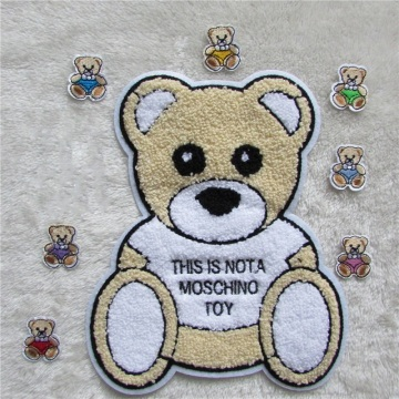 Cartoon cute little bear chenille embroidery patches