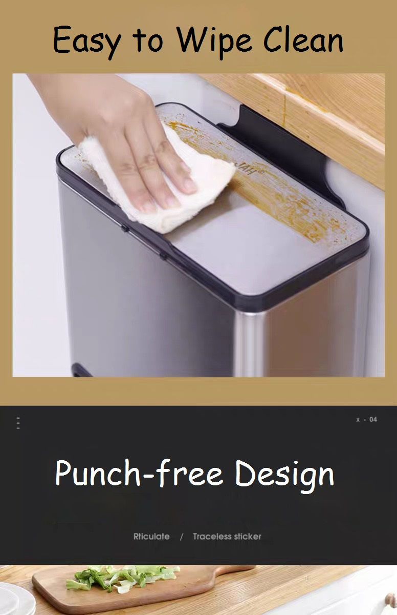 Punch-free In-cabinet Rubbish Bin