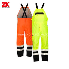 Water Resistant safety bib pants  with Reflective