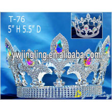 Full Round Crown Wholesale Rhinestone Hair Jewelry