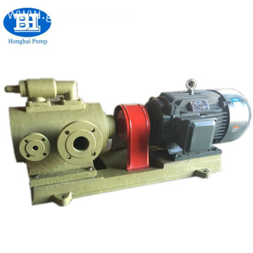 Liquid asphalt unloading screw pumps