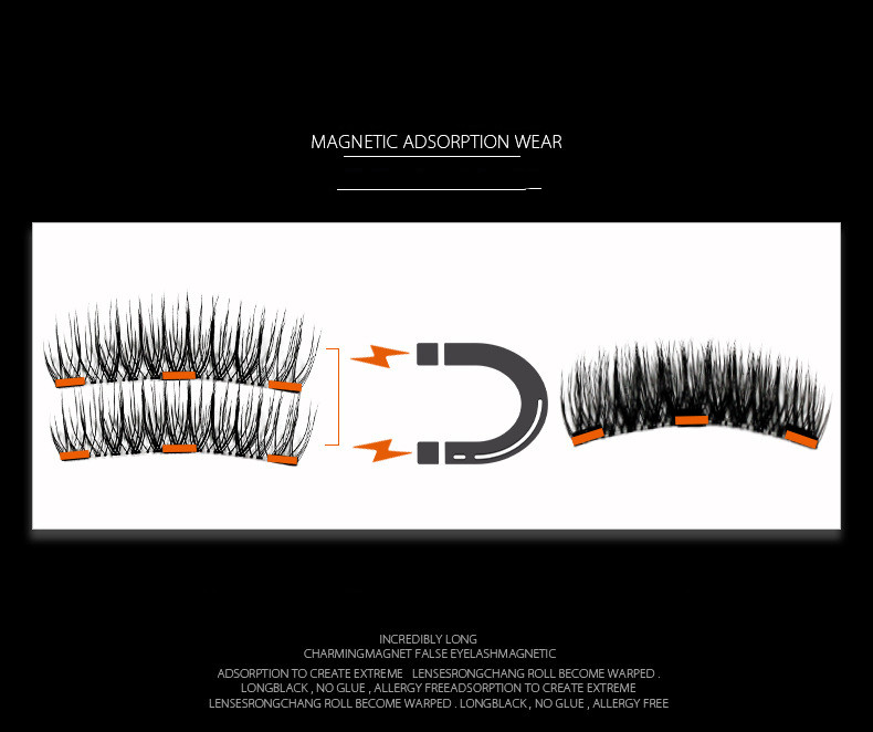 European and American three magnets sharpen magnetic eyelashes (2)