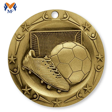 Buy metal gold soccer sports medal for sale