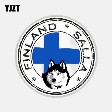 YJZT 13CM*13CM Creative Finland Salla Flag Car Sticker Window Motorcycle PVC Decal 6-2773