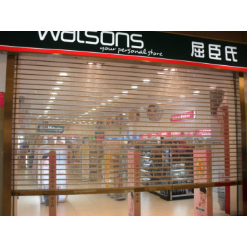 Store Transparent Crystal Roller Shutter Door