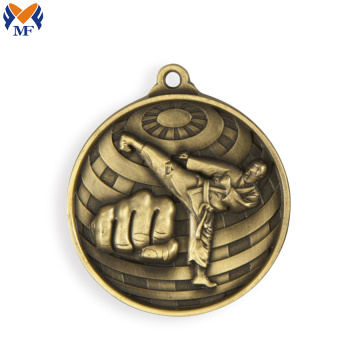 Metal customized make engraving katate medal