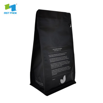 stand up pouch recyclable resealable ziplock coffee bag with zipper and valve