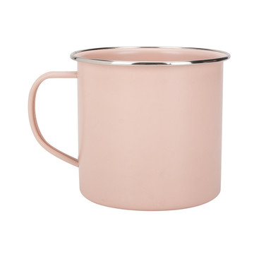 Light color enamel coffee mug