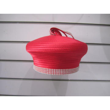 Women's Satin Fabric Formal Pillbox Hats