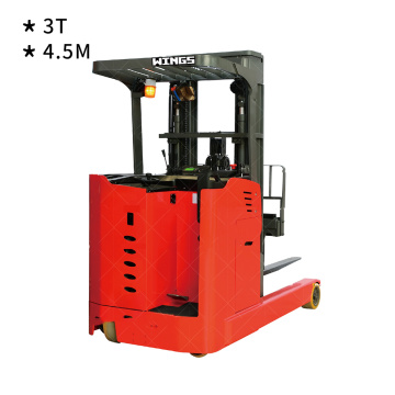 3 tons Electric Reach Truck Stand-on 4.5m