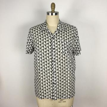 Casual Loose Fit black white triangle pattern Shirt
