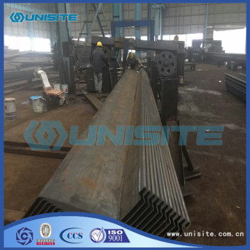 Concrete sheet pile wall