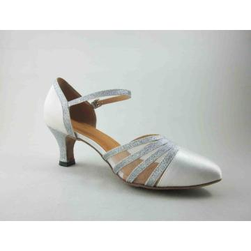White ballroom dance shoes 2 inch heel