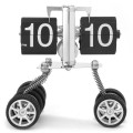 Funny Three  Wheels  Flip Clock