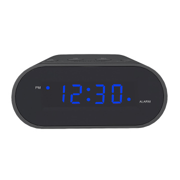 Hot Sale ABS Digital Desk Clock Black Small LED Digital Clock Bluetooth Speaker with Clock and Radio
