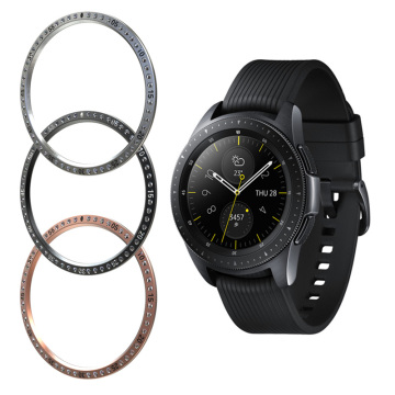 10pcs/lot Smart Watch Cover For Samsung Galaxy Watch 46MM 42MM Bezel Ring Smart Accessories Adhesive Cover Anti Scratch Metal