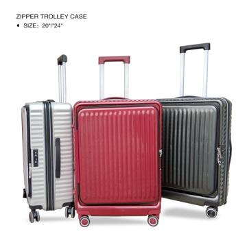 Luxury front opening smart laptop luggage
