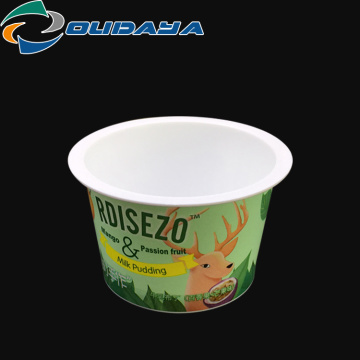 80ml disposable plastic pudding cups with customer's printed