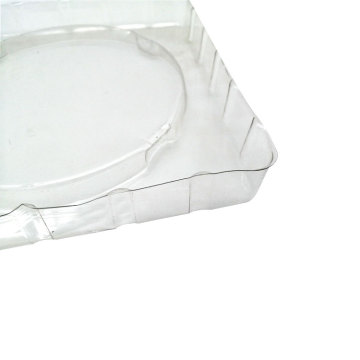 Custom transparent round plastic blister trays packaging