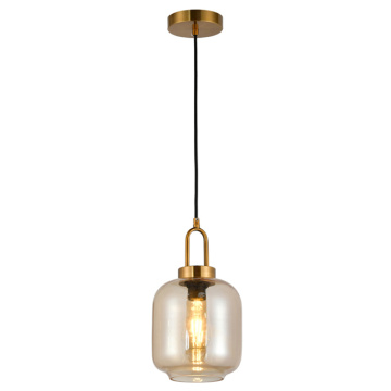 antique pendant lamp amber indoor light