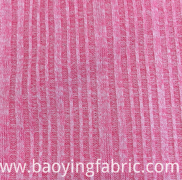 Striped Rib Knit Fabric