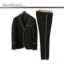 2 piece pants suits set men black blazer