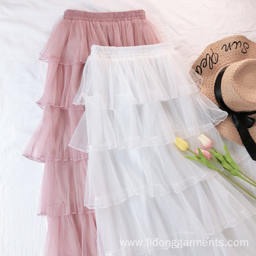 Women Gauze Sweet and Temperament Ladies Bubble Skirt