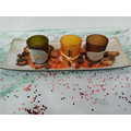 Boat Shape Wooden Candle Tray Set