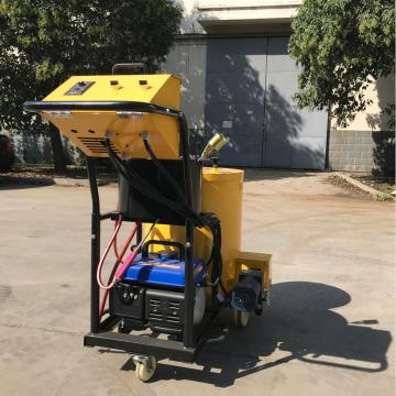 Flow control road crack sealing machine