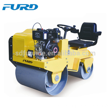 Hydraulic drive double drum ride on mini road roller (FYL-850)