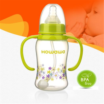 Baby PP Milk Feeding Bottle With Handle