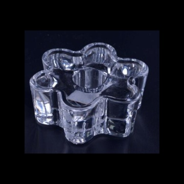 Glass Lotus Tealight Candle Holder