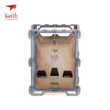 Keith Titanium Alloy Wood Stove Outdoor Camping Portable Charcoal Stove Heating Stove Burning Cooker